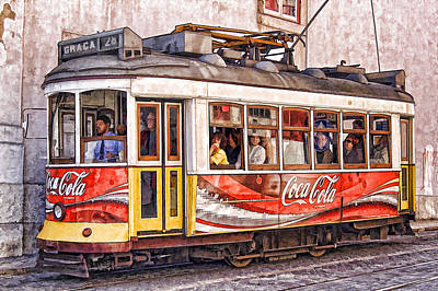 Electric Trolly Of Lisbon Art Print