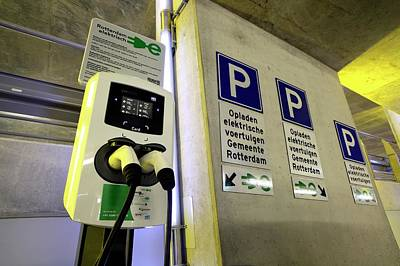 Rotterdam Photograph - Electric Vehicle Charging Point by Martin Bond