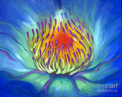 Painting - Electric Water Lily by Audrey Peaty
