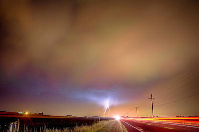 Lightning Bolt Photograph - Electrical Charged Green Lightning Thunderstorm by James BO  Insogna