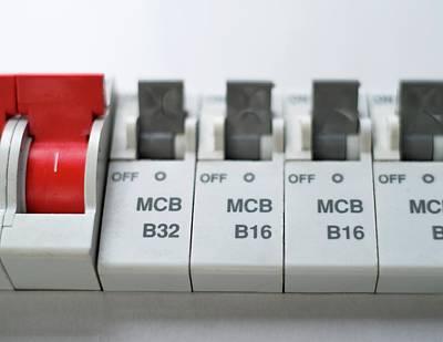 Electrical Circuit Breakers Art Print