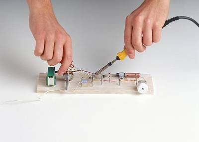 Soldered Photograph - Electrical Components Being Joined by Dorling Kindersley/uig