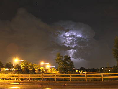 Photograph - Electrical Storm by Trent Mallett