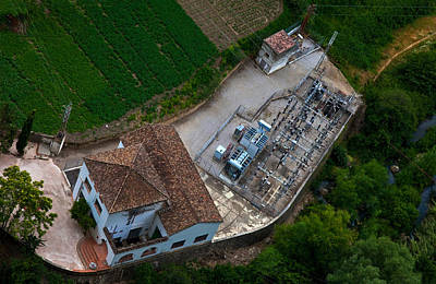 Ronda Photograph - Electrical Sub-station Beklow Ronda by Panoramic Images