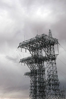 Electrical Transmission Tower Art Print
