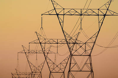 Electrical Transmission Towers Art Print by Tom Patrick