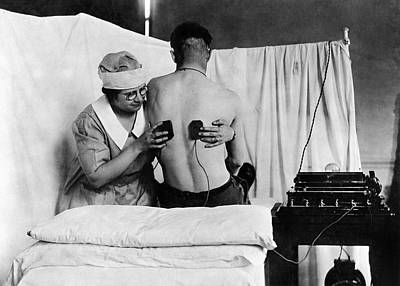 Electrical Treatment Of Shell Shock Art Print by Otis Historical Archives, National Museum Of Health And Medicine
