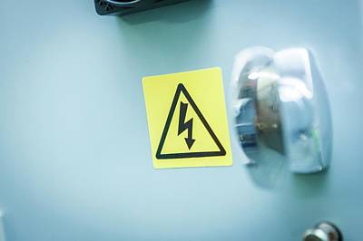 Electrical Warning Sign Art Print by Gustoimages