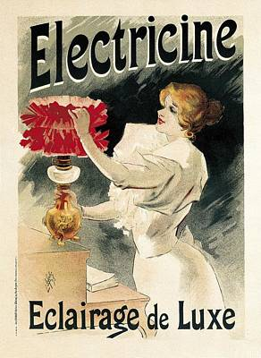 Electricine. Eclairage De Luxe. Poster Art Print by Everett