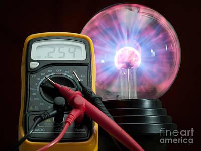 Plasmatron Photograph - Electricity Control by Sinisa Botas