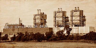 Photograph - Electricity - Public Service Company Of Oklahoma - Tulsa by Deena Stoddard