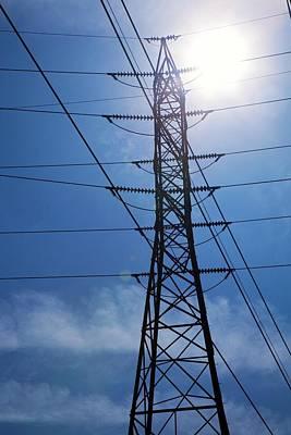 Electricity Pylon Art Print