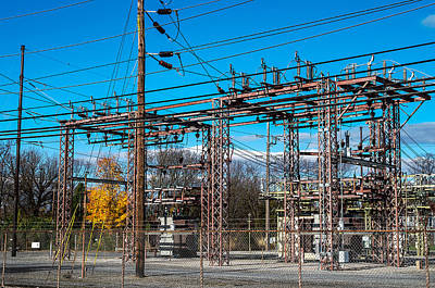 Electricity Station Art Print