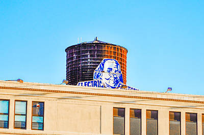 Philadelphia Photograph - Electrick Factory Water Tower by Bill Cannon