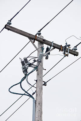Electric Photograph - Electricpoles-2 by Pittsburgh Photo Company