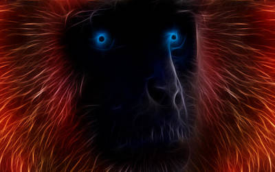 Ape Digital Art - Electrified by Aged Pixel