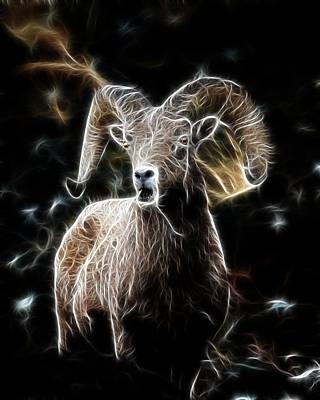 Electrified Ram Art Print
