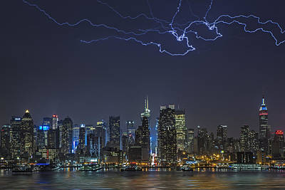 Electrifying New York City Art Print by Susan Candelario