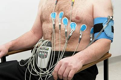 Physiology Photograph - Electrocardiograph (ecg) by Dr P. Marazzi