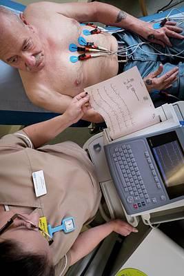 Electrocardiography Test Art Print