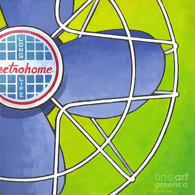 Painting - Electrohome Fan by Larry Hunter