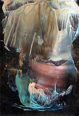 Beeswax Painting - Electromagnetic Storms Dissolving Into Overwhelming Gravity by Cristina Handrabur