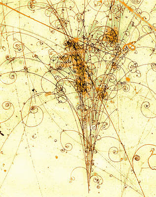 Electron Positron Particle Shower Art Print by Spl