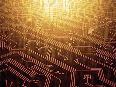 Circuit Photograph - Electronic Circuit by Ktsdesign