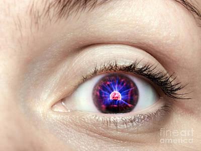 Electronic Eye Art Print by Sinisa Botas