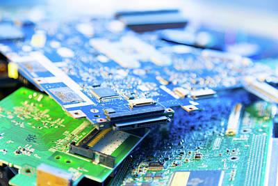 Electronic Printed Circuit Boards Art Print by Wladimir Bulgar
