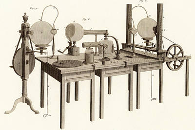 Clergyman Photograph - Electrostatic Machine by Universal History Archive/uig