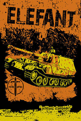 Elefant Tank Print by Philip Arena