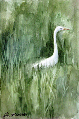 Painting - Elegance In Green by Erin Rickelton