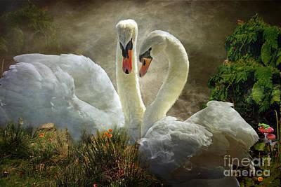 Animal Lover Digital Art - Elegance Paired by Wobblymol Davis
