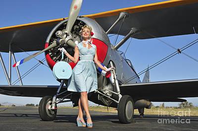 Photograph - Elegant 1940s Style Pin-up Girl by Christian Kieffer