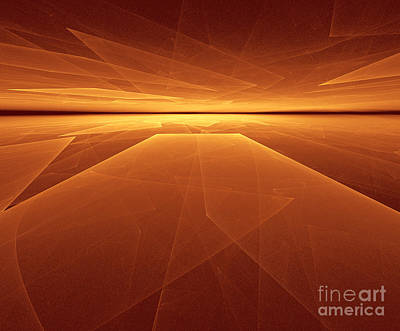 Visiting Digital Art - Elegant Abstract Sunset by Odon Czintos