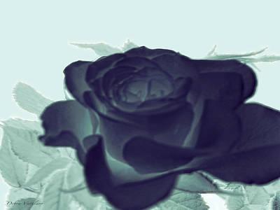 Elegant Black Rose Art Print by Debra     Vatalaro