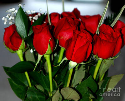 Photograph - Elegant Bouquet Of Roses by Oksana Semenchenko