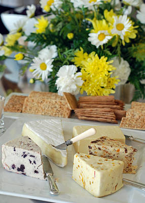 Photograph - Elegant Cheese Buffet by Connie Fox