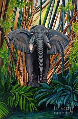 Elegant Elephant Original by Patty Vicknair