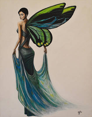Dignified Painting - Elegant Fairy by Molly Prince