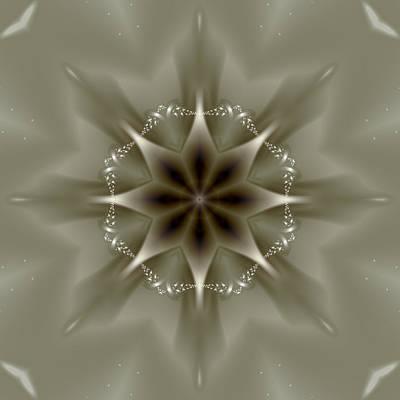 Elegant Fractal Kaleidoscope II Art Print by Gina Lee Manley