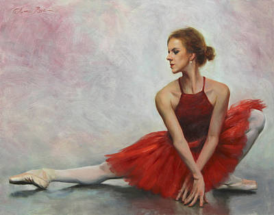 Ballet Art Painting - Elegant Lines by Anna Rose Bain