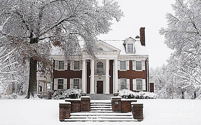 Photograph - Elegant Mansion Snow Scene by Luther Fine Art