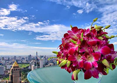 Elegant Orchids Art Print by Suradej Chuephanich