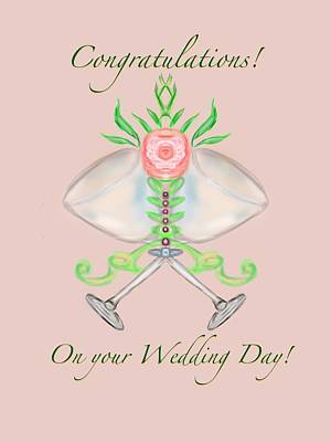 Art Print featuring the digital art Elegant Wedding by Christine Fournier