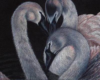 Drawing - Elegant Whispers by Jo Prevost