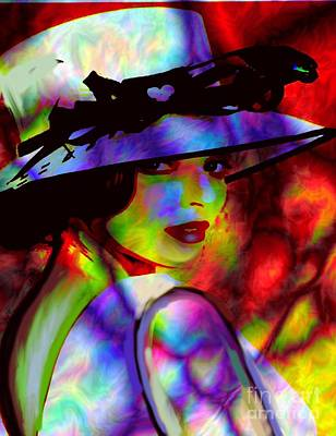 Elegant Woman In Shade Art Print by Diana Riukas