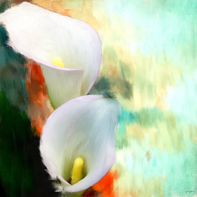 Lilies Digital Art - Elegantly Pure by Lourry Legarde