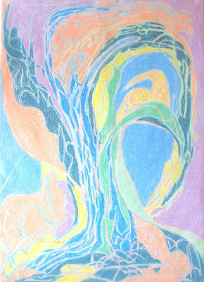 Art Print featuring the painting Elegy To A Tree by Esther Newman-Cohen